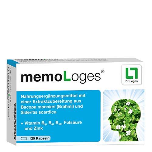 memoLoges® 2-Monatspackung - Fördert die Konzentration und Gedächtnisleistung - Nahrungsergänzung mit patentierten Pflanzen-Extrakten für ein besseres Erinnerungsvermögen im Alter - 120 Kapseln