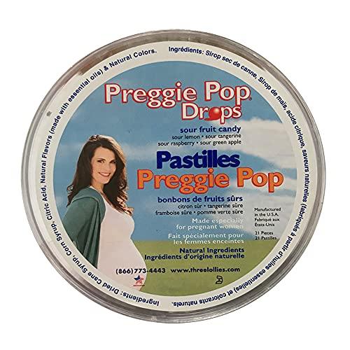 Drei Lollies Preggie Pop Drops bei schwangerschaftsübelkeit sortiert für Morning Sickness Relief, 21Zählen