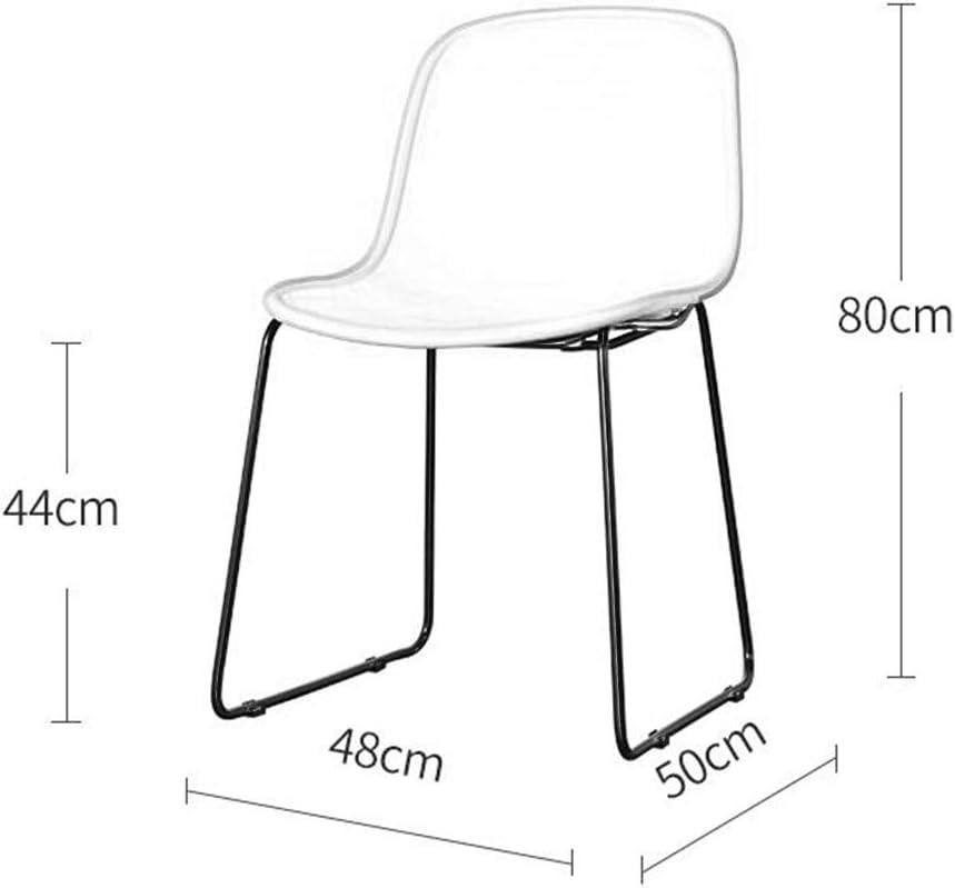 HURONG168 Chaises de cuisine Chaise de salle à manger moderne minimaliste nordique européen adulte occasionnel bureau à la maison en fer forgé pour parler chaise siège lounge Gray