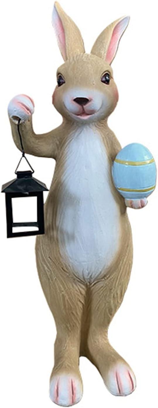 ZHXQ Garden Sculpture Rabbit Carrying Garde Outdoor Statue Lamp Financial sales Sales sale