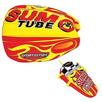 Sportsstuff Sumo & Splash Guard Combo   1 Rider Towable Tube for Boating