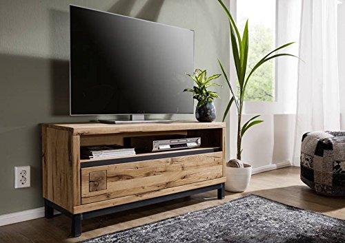 MASSIVMOEBEL24.DE TV-Board Wildeiche 120x40x56 Natur geölt VILLANDERS #112 modern
