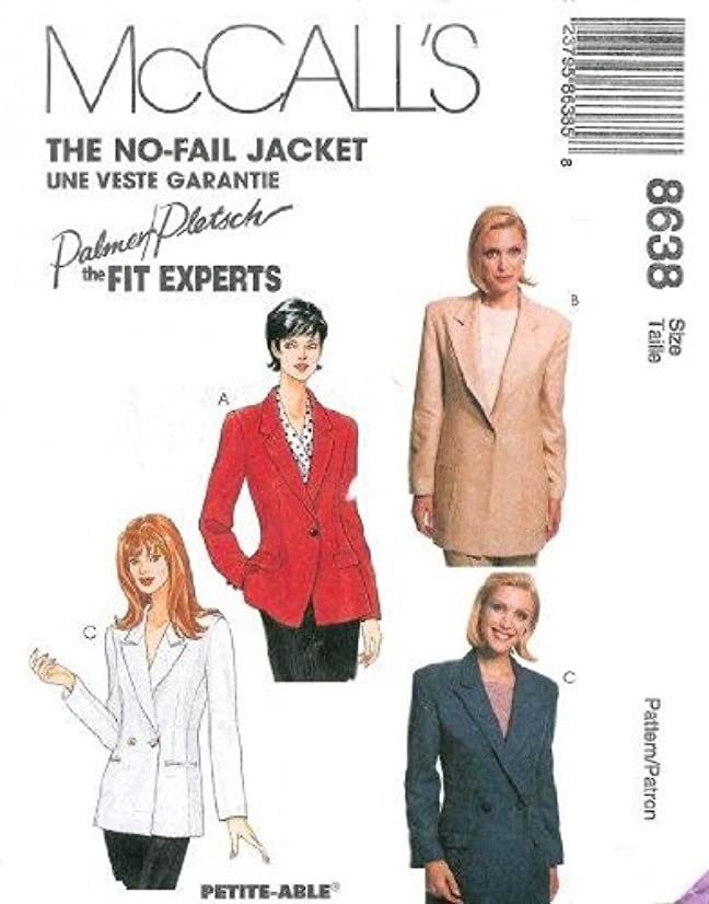 McCall's Sewing Pattern 8638 Misses'