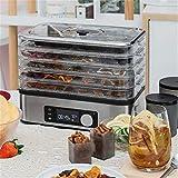 CRZJ Máquina deshidratadora de Alimentos, configuración fácil, Temporizador Digital Ajustable y Control de Temperatura, Secadora de Vegetales de Frutas de Res, 5 bandejas de Secado