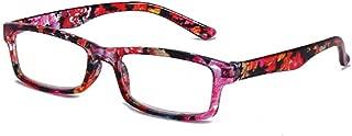 Aiweijia Men women Fashionable Spring Hinge Reading Glasses Floral Design frame