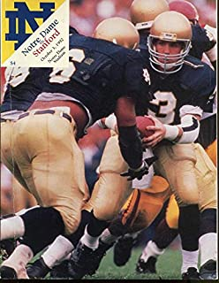 1992 Notre Dame v Standard Football Program Ex Condition - College Programs