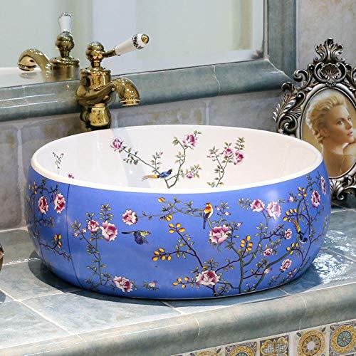 YYZD® waschbecken Jingdezhen Kunst Arbeitsplatte Keramik Waschbecken bemalte Keramik Waschbecken mit Arbeitsplatte
