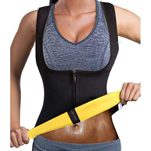 Camiseta de fitness para mujer, camiseta de adelgazamiento, chaleco adelgazante, camiseta de neopreno para yoga, sauna