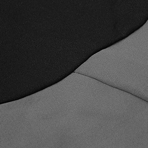 Fundas de asiento de tela de malla para autopartes(Gray+black)