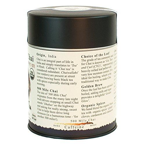 The Tao of Tea Organic Black Tea & Spices, 500 Mile Chai, 4.0 oz (115 g)