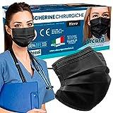 Immagine 2 50 mascherine chirurgiche nere per