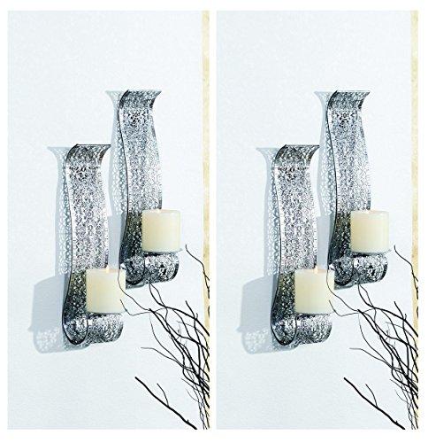 Markenlos Kerzenwandhalter Kerze Wand Kerzenhalter Wandleuchter Wandkerzenhalter Wandlicht (2)