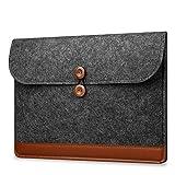 CoverKingz Laptoptasche für MacBook, MacBook Air, MacBook Pro, UltraBook Schutzhülle NoteFliptasche Filz, 15 Zoll, Dunkel Grau