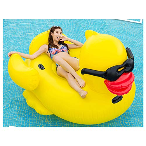 YSHUAI Pool Flöße & Inflatable Fahrt-ons, Giant, Gelb, aufblasbares Pool Float, Quick-Fill Ventile, Einbauschränke Becherhalter, Float aufblasbare Lounge