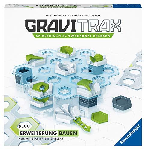 Ravensburger GraviTrax Erweiterung Bauen - Ideales Zubehör für spektakuläre Kugelbahnen, Konstruktionsspielzeug für Kinder ab 8 Jahren