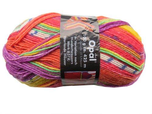 Opal Sockenwolle nach Hundertwasser Wartende Häuser