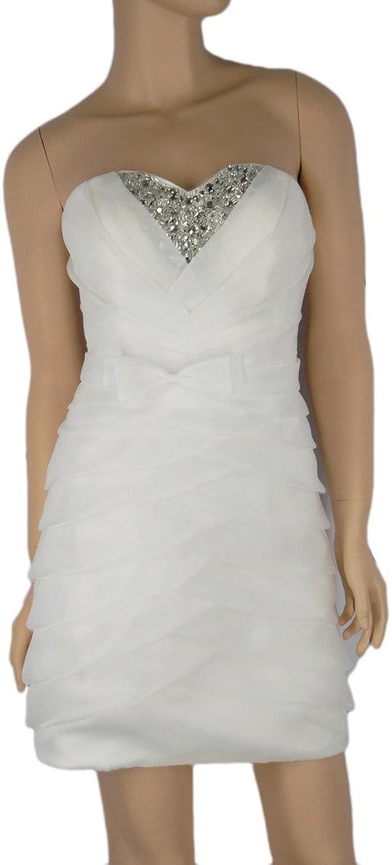 Alivila.Y Fashion Organza Sheath Cocktail Formal Prom Dress B8219