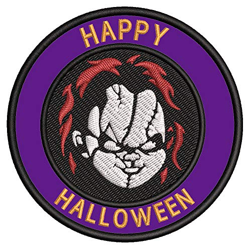 Chucky Halloween Theme 3.5' Embroidered Patch DIY Iron-on or Sew-on Decorative Applique Costume Cap...