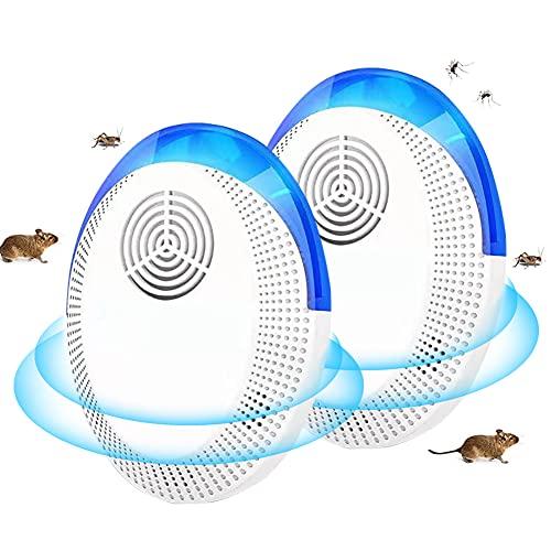 SEGMINISMART Antizanzare Ultrasuoni, Repellente Ultrasuoni, Ultrasuoni per Topi, Elettronico Dissuasore Anti Zanzare, Topi, Insetti, Ratti, Formica, Ragni, Flea, Scarafaggi