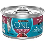 Purina ONE Urinary Tract Health, Natural Pate Wet Cat Food, Urinary Tract Health Beef & Liver Recipe - (24) 3 oz. Pull-Top Cans