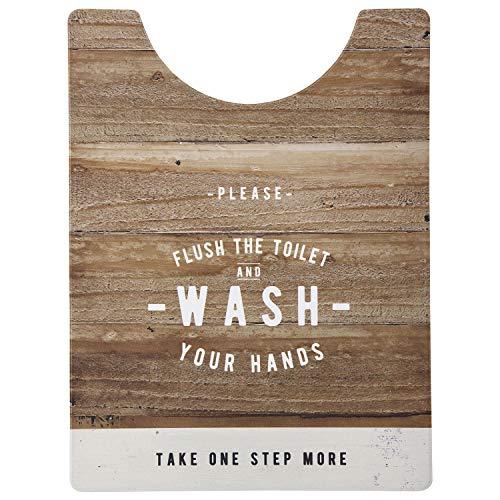 ベストコ トイレマット ルール ナチュラル ロング さらっと拭ける お手入れ簡単 ND-9974