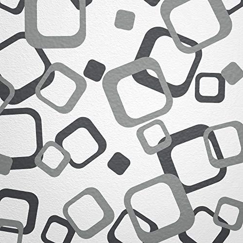 WANDfee® Wandtattoo Vierecke 60 Aufkleber FARBWUNSCH Wandaufkleber Kinderzimmer Fliesenaufkleber Badezimmer Küche grau dunkelgrau