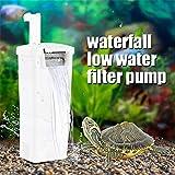 Cobella 3W Turtle Aquarium Internal Filter 240L/H (63 GPH) Waterfall Flow Pump Bio