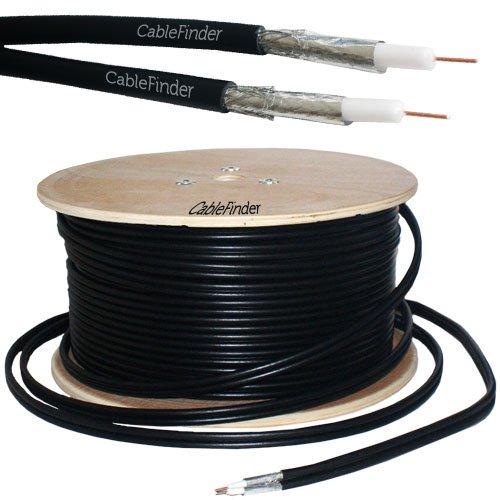 50M RG6 Twin Coaxial Shotgun Cable - Aerial Satellite Dish LNB - Sky+ HD Freesat - Loops