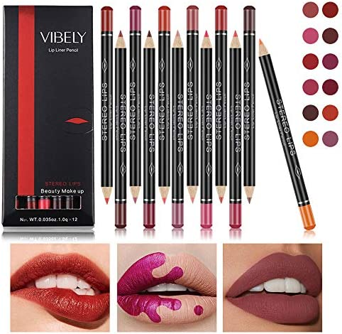 12 Colors Lip Liner Pencil Professional Matte Lip Liner and Lipstick set for Waterproof Long product image