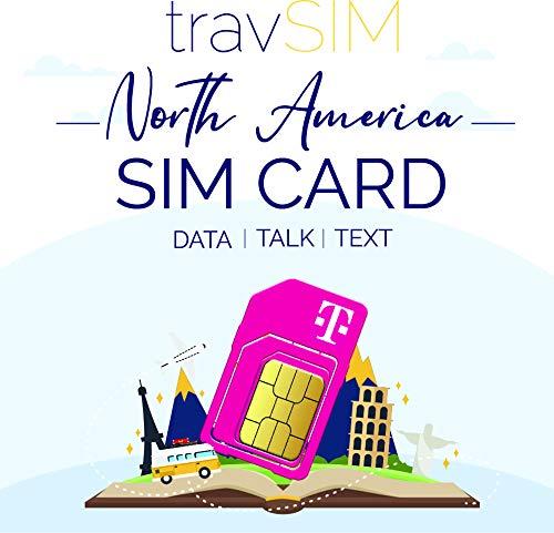 travSIM USA SIM Karte (T-Mobile SIM Karte) Gültig für 30 Tage - 50GB 3G 4G LTE Mobile Daten - Vereinigte Staaten T-Mobile US SIM Karte (Funktioniert auch in Kanada & Mexiko, 5GB Kombiniert)