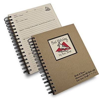 Bird Watching Prompt Journal/notebook Spiral Bound - Hard Cover and Eco Friendly