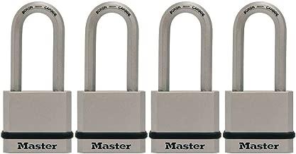 Master Lock M530XQLH Magnum Solid Steel Keyed Alike Padlocks, 4 Pack