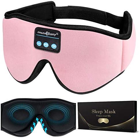 MUSICOZY Sleep Headphones 3D Bluetooth 5 0 Wireless Sleep Mask Sleeping Headphones Music Eye product image