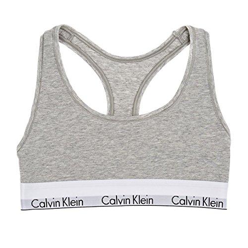 Calvin Klein Damen Bralette Dreieck BH, Grau (Grey Heather 020), ((Herstellergröße: XS)