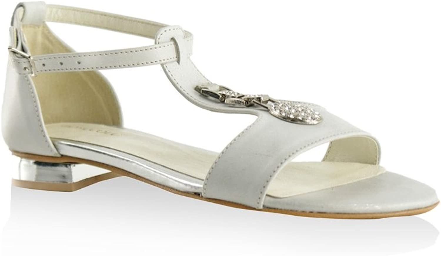 BOSCCOLO 3938-39-40 Sandals With Ornament, Saldalen, Sandales, Leder, Leather, Cuir Cuir  das beste Online-Shop-Angebot