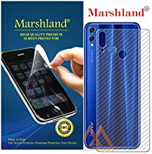 MARSHLAND 3D Carbon Fiber Flexible Back Screen Protector Anti Scratch Bubble Free Back Screen Guard Compatible for Honor 8X