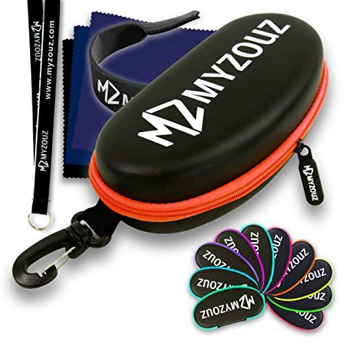Grande Impermeabile Goggle Case nero rigido + [3 BONUS] custodia protettiva per occhiali, sole, nuoto, sport invernali, ciclismo, sci, kitesurf, airsoft, balistico, corsa, pesca, canoa, kawak, kayak