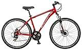 Schwinn GTX Comfort Hybrid Bike, GTX 2, 18-Inch Frame, Red