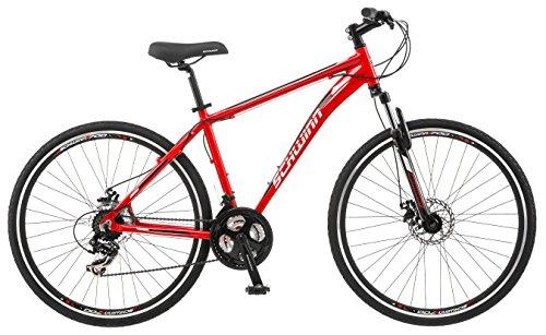 Schwinn GTX Comfort Hybrid Bike, GTX 2, 18-Inch Frame, Red (S2786B) Bikes Features Hybrid Outdoor Recreation Schwinn