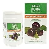 Bacche dI Acai Estratto Puro Naturpharma 50 Vegan capsule da 500 mg   Titolato al 10% in Polifenoli   Integratore Naturale di supporto al metabolismo dei lipidi e dei carboidrati.