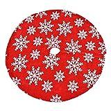 GANFANREN Falda roja para árbol de Navidad, diseño de copo de...