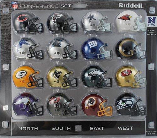 NFL NFC Conference Pocket Size Helmet Set (16-Piece)