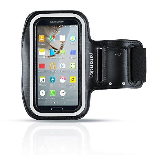 Brazalete de Deporte para Smartphone 5.1 Pulgadas - Resistente al Sudor y Agua - Impermeable - con Compartimento para Llaves- Muy cómodo Gracias al Sujetador Ajustable - para Samsung Galaxy S3 S4 S5