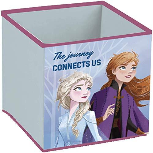familie24 Frozen - Die Eiskönigin Aufbewahrungsbox ohne Deckel stapelbar Spielzeugkiste Kiste Würfel Spielzeugbox Spielebox Toy Box Kinderzimmeraufbewahrung Anna ELSA Olaf