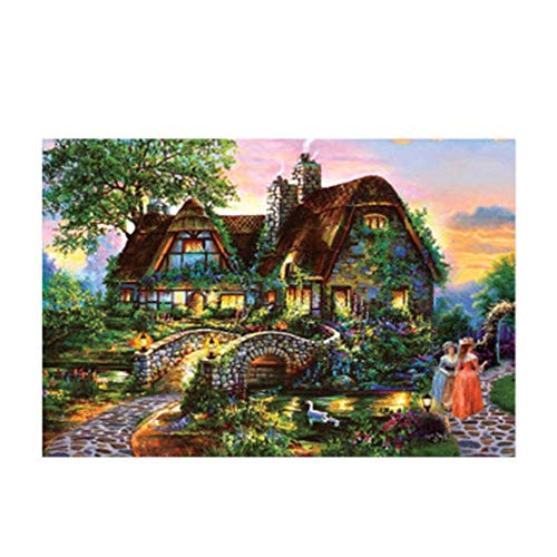 QMLZB Little Bridge and People 1000 Pieces Jigsaw Puzzles DIY Creativity Party Toys for Puzzle Kids Adulto Gifts(75CM x 50CM)