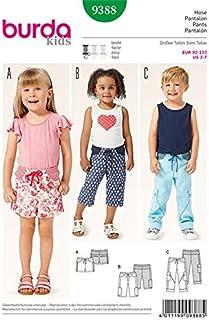 Patrones de corte burda 9528 traje de pantalón talla 122-164