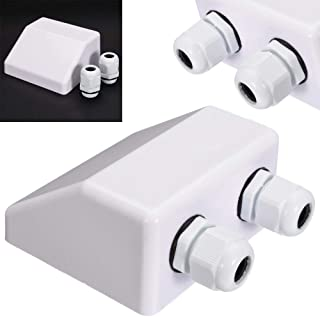Expressus - Waterproof Junction Box Case Roof Solar Panel Double Cable Installation Entry Gland Box Electrical Connection Box