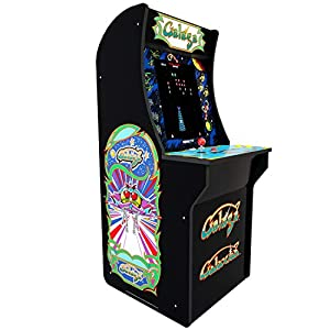 ARCADE1UP Retro Arcade Machine Spielautomat (Galaga, Galaxian, 1.20m hoch, 17 Zoll Full Color High Resolution Display, Sound, original Joystick und Steuertasten)