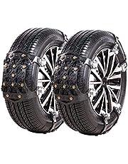 HNVEY 非金属タイヤチェーン 簡易型 滑り止め ジャッキアップ不要