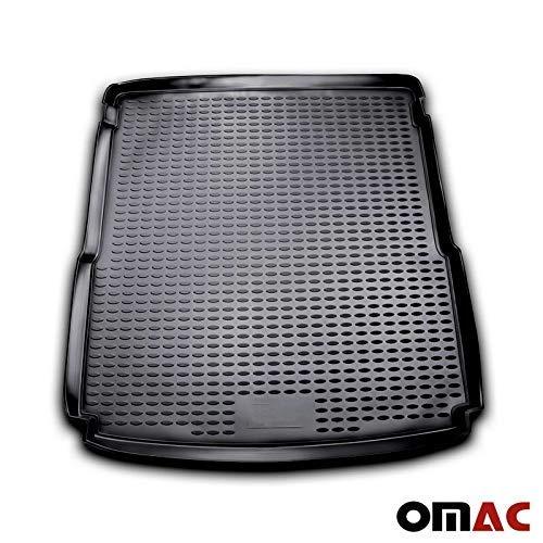 OMAC Auto Kofferraummatte Laderaumwanne Kofferraumshutz kompatibel mit VW Passat B7 Variant Alltrack 2010-2015 3D Passform Hoher Rand Antirutschmatte Gummi Matte Kofferraumwanne schwarz